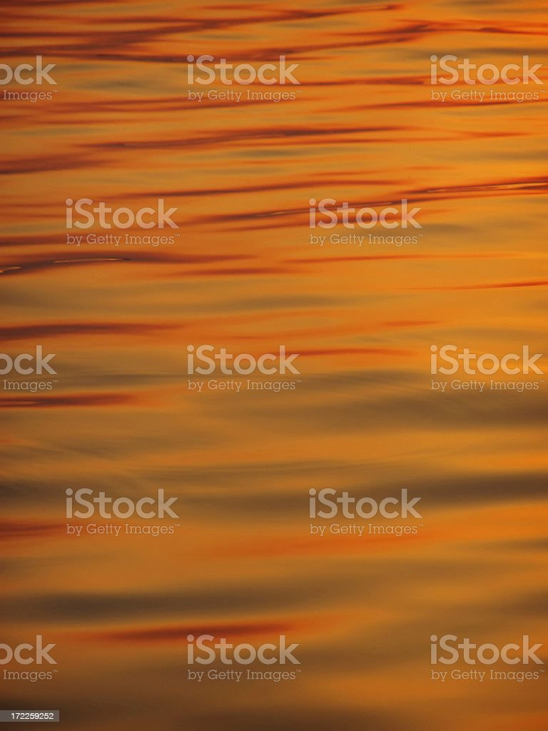 red sunset waves on the beach royalty-free stock photo