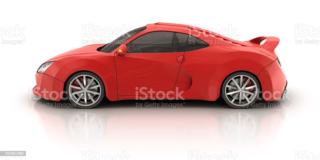 red supercar royalty-free stock photo