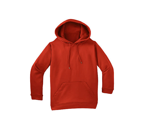 red sweater isolated red sweater isolated on white background hood clothing stock pictures, royalty-free photos & images