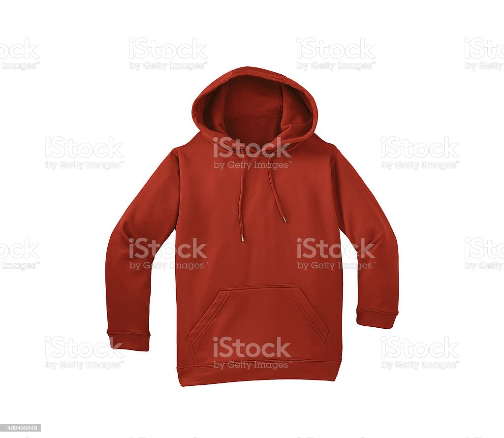 red sweater isolated stock photo