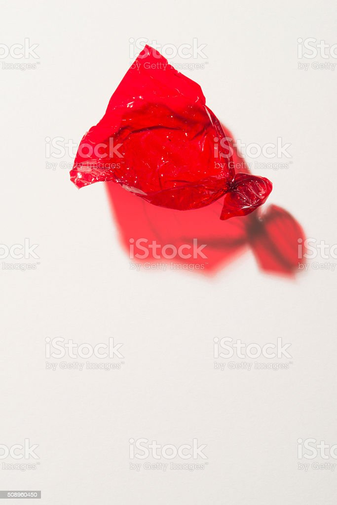Red sweet wrapper stock photo