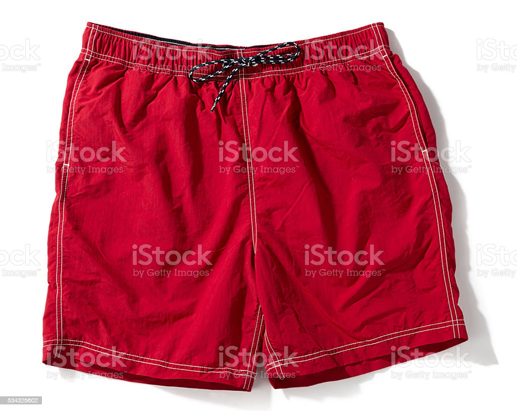 Red Swim Trunks stock photo