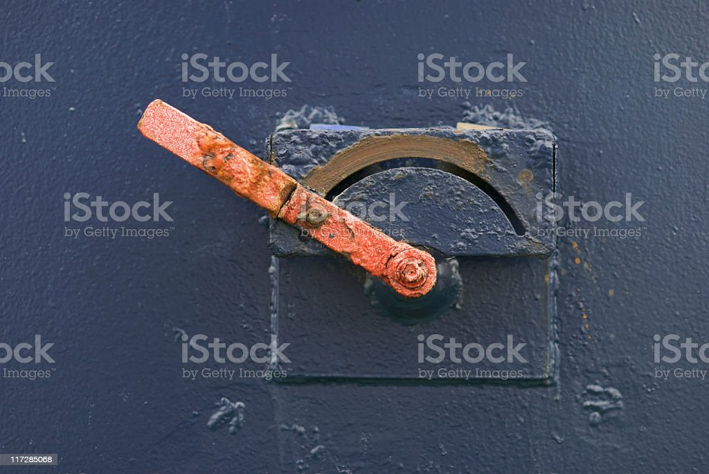 Red switch stock photo