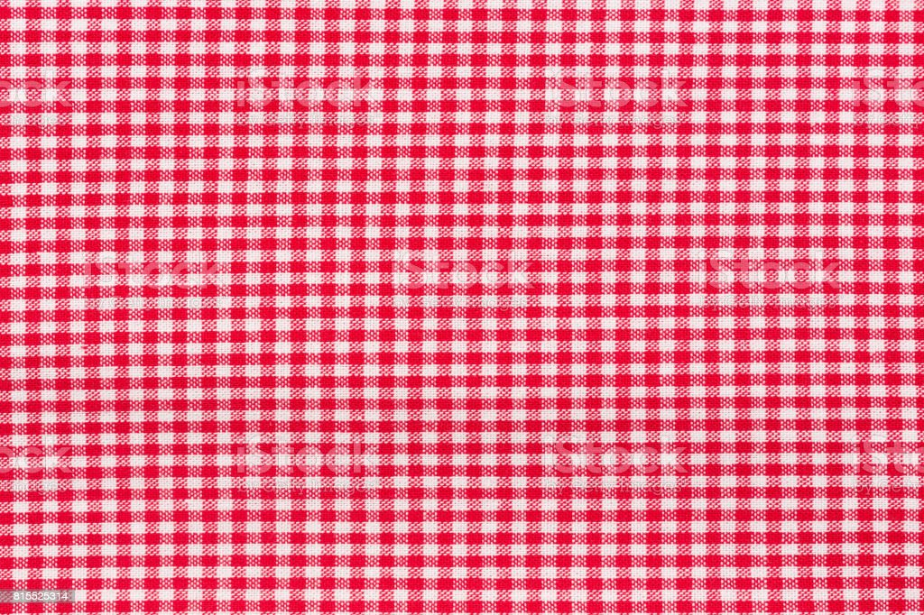 Red tablecloth. Hi res photo. stock photo