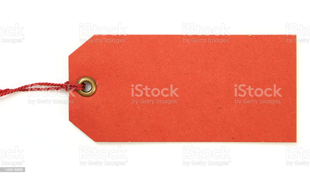 red tag royalty-free stock photo