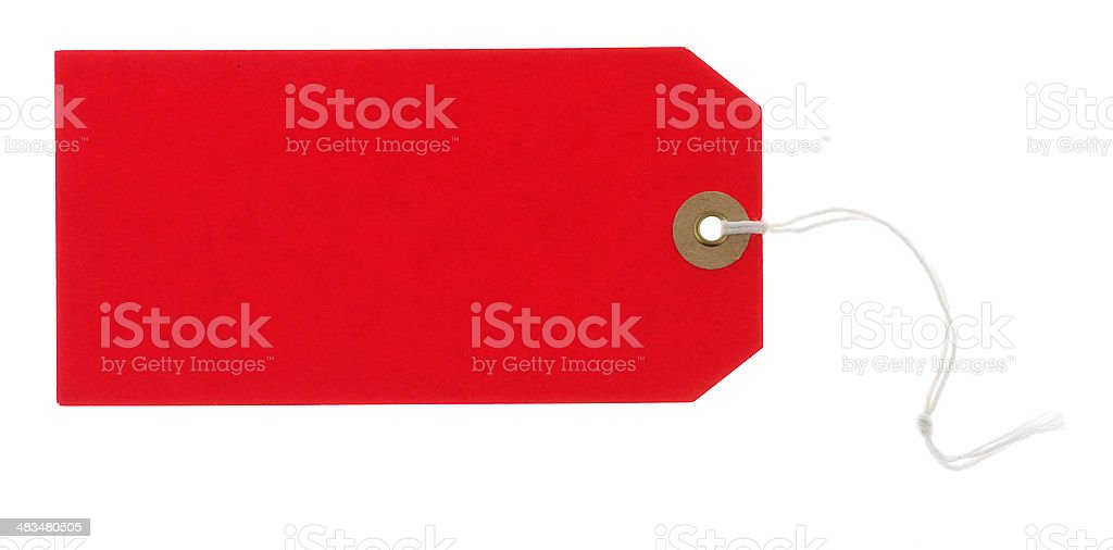 Red tag stock photo
