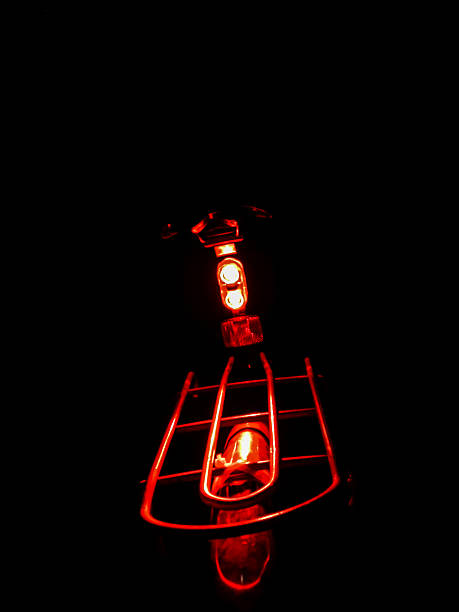 red taillight of bike (LED)