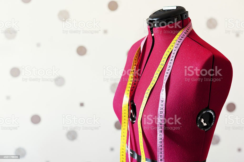 red tailors dummy stock photo