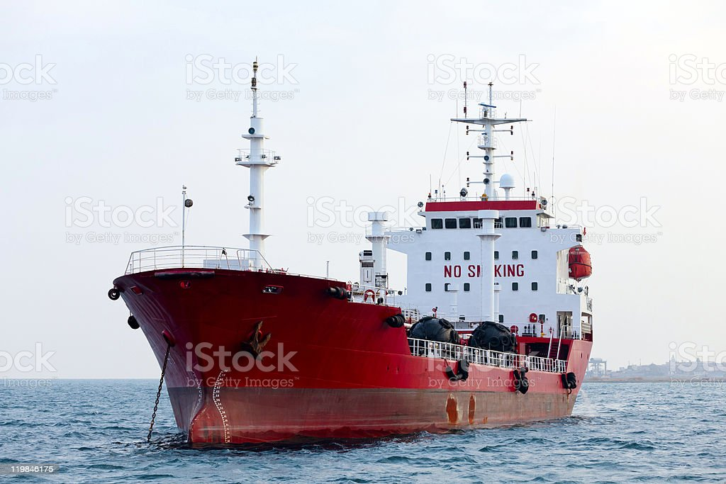 Red tanker royalty-free stock photo