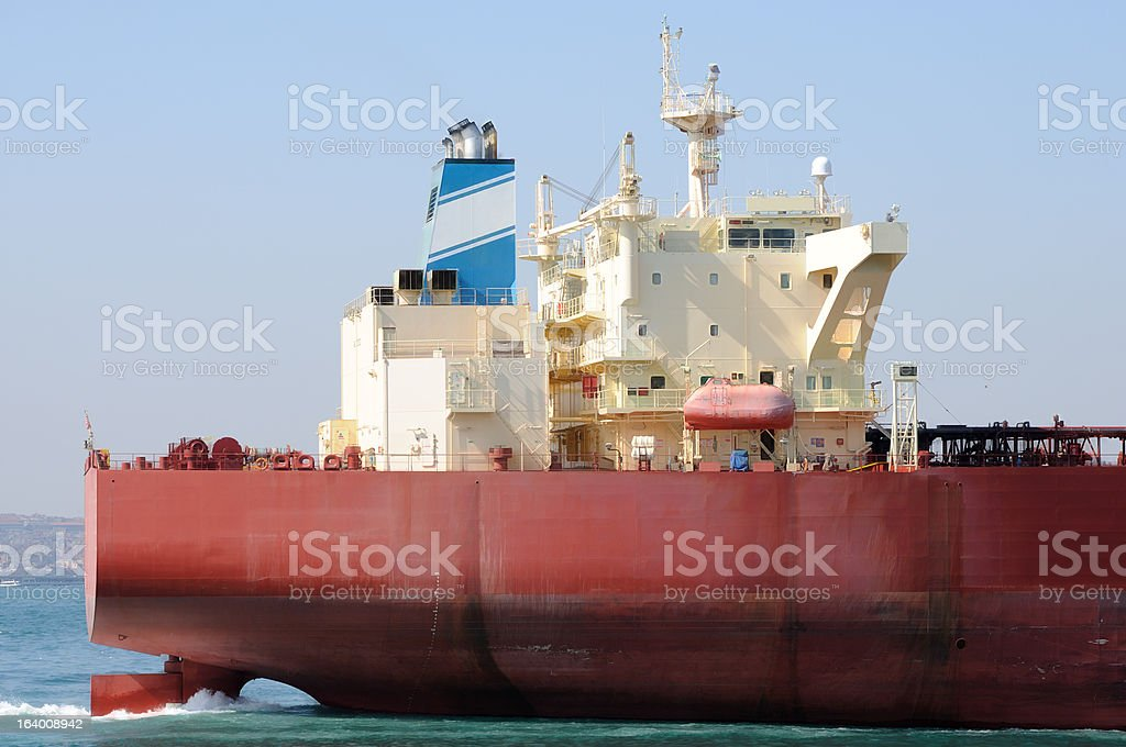Red tanker ship royalty-free stock photo