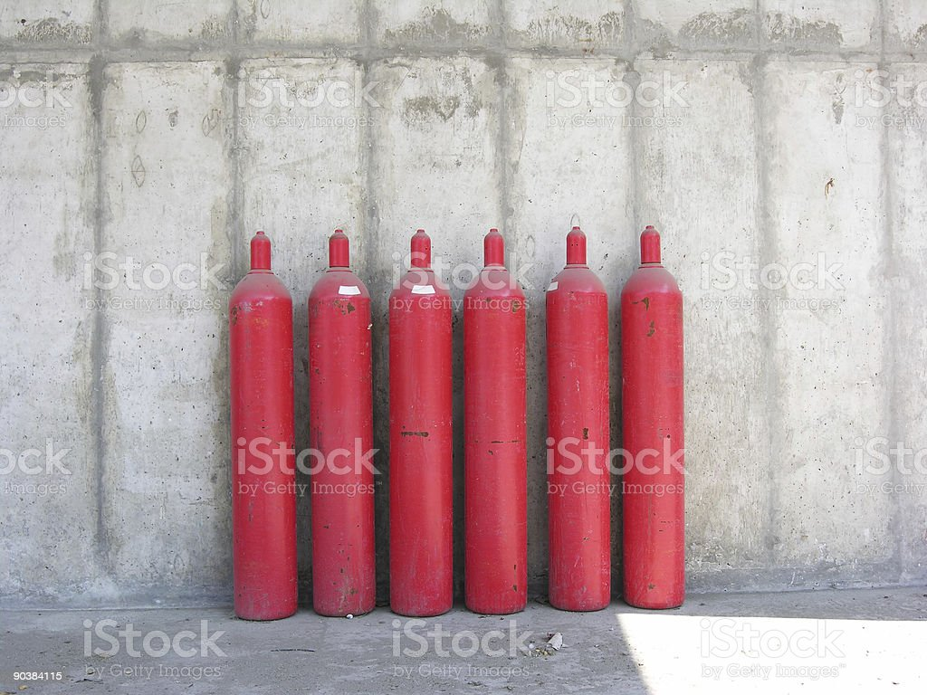 Red Tanks royalty-free stock photo