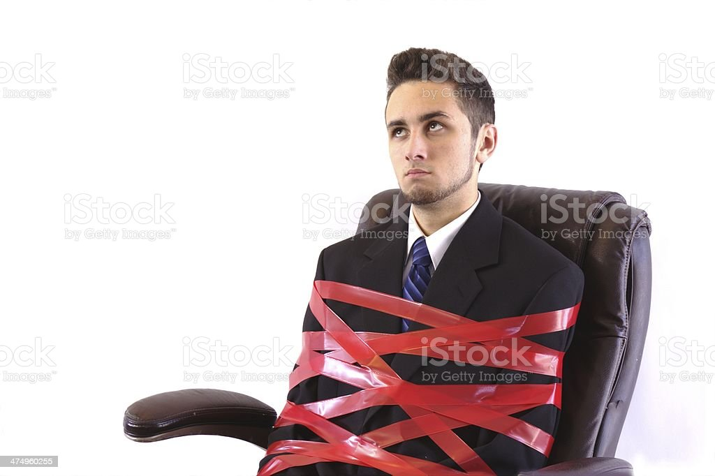 Red Tape Chair stock photo