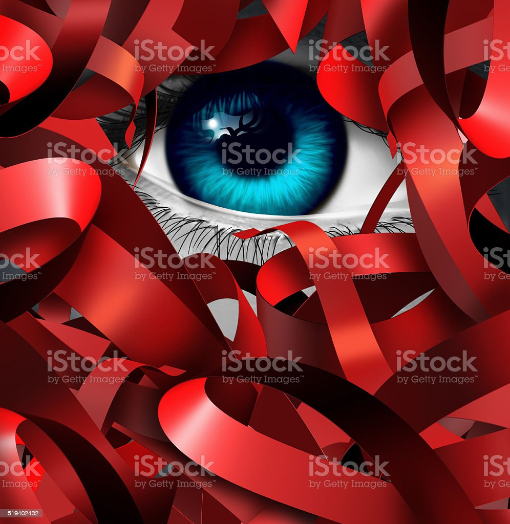 Red Tape Crisis stock photo