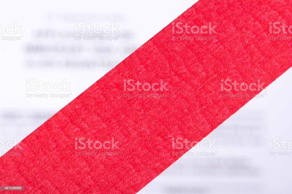 Red Tape stock photo
