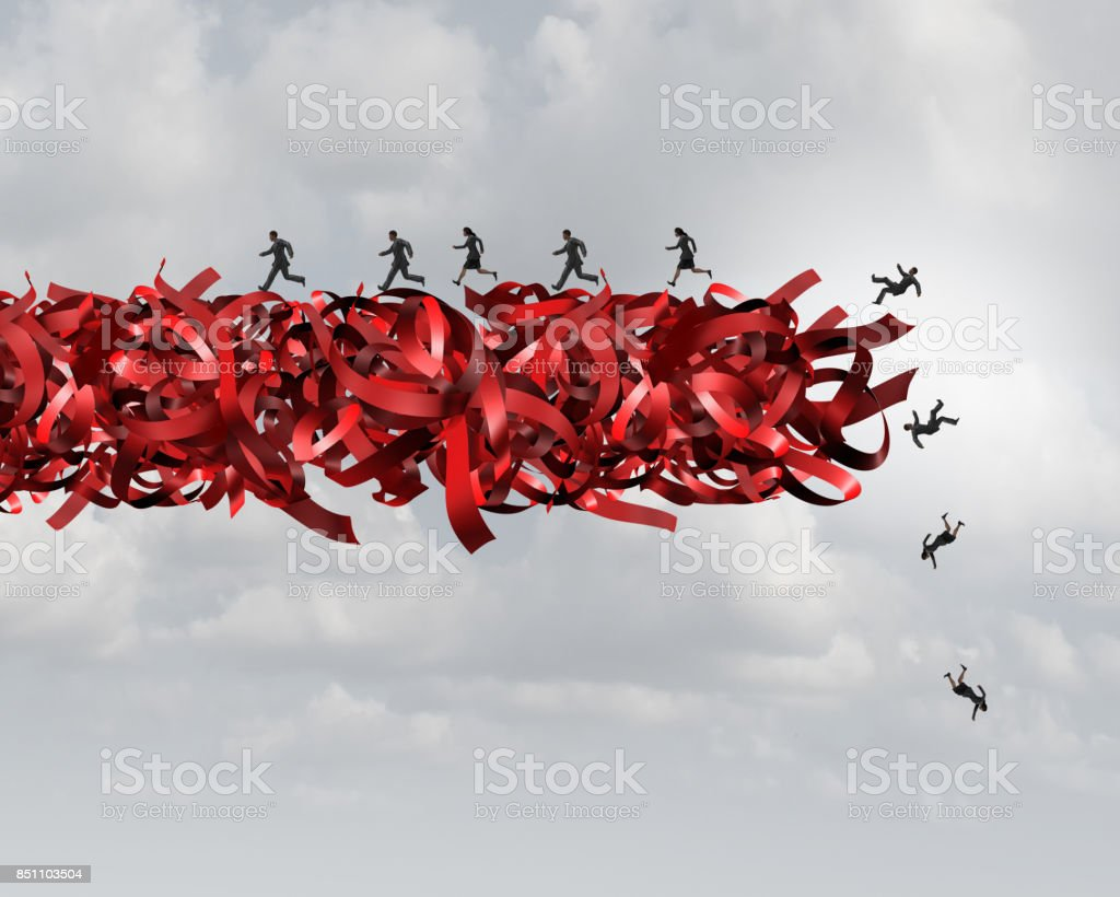 Red Tape Risk stock photo