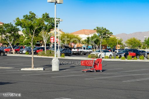 istock A red Target shopping cart left abandon 1227057416