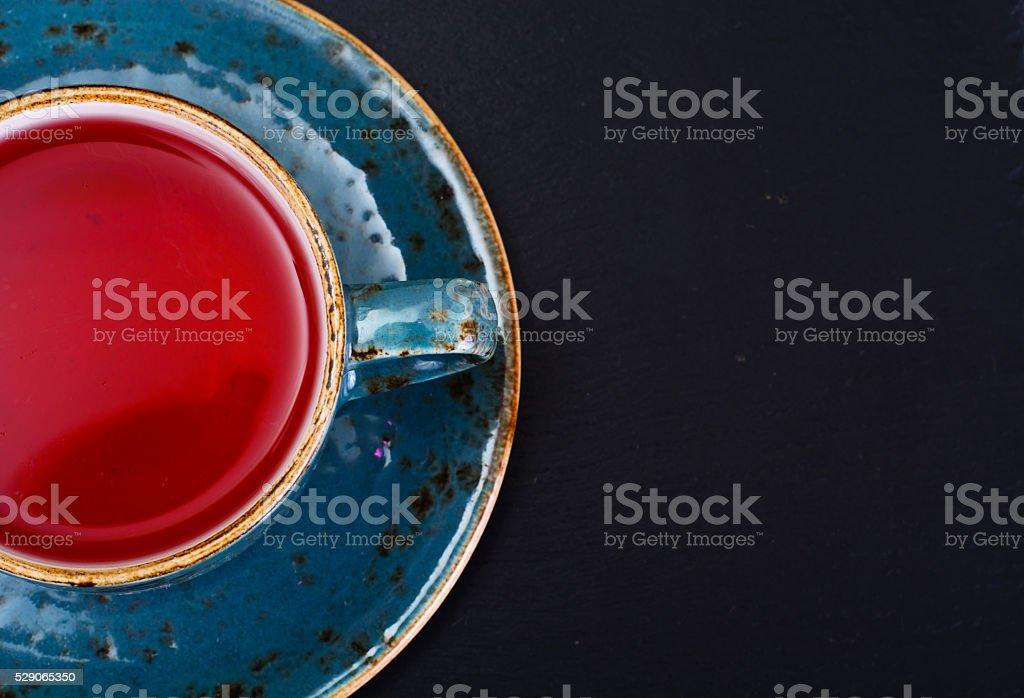 Red Tea in Beautiful Cup stock photo