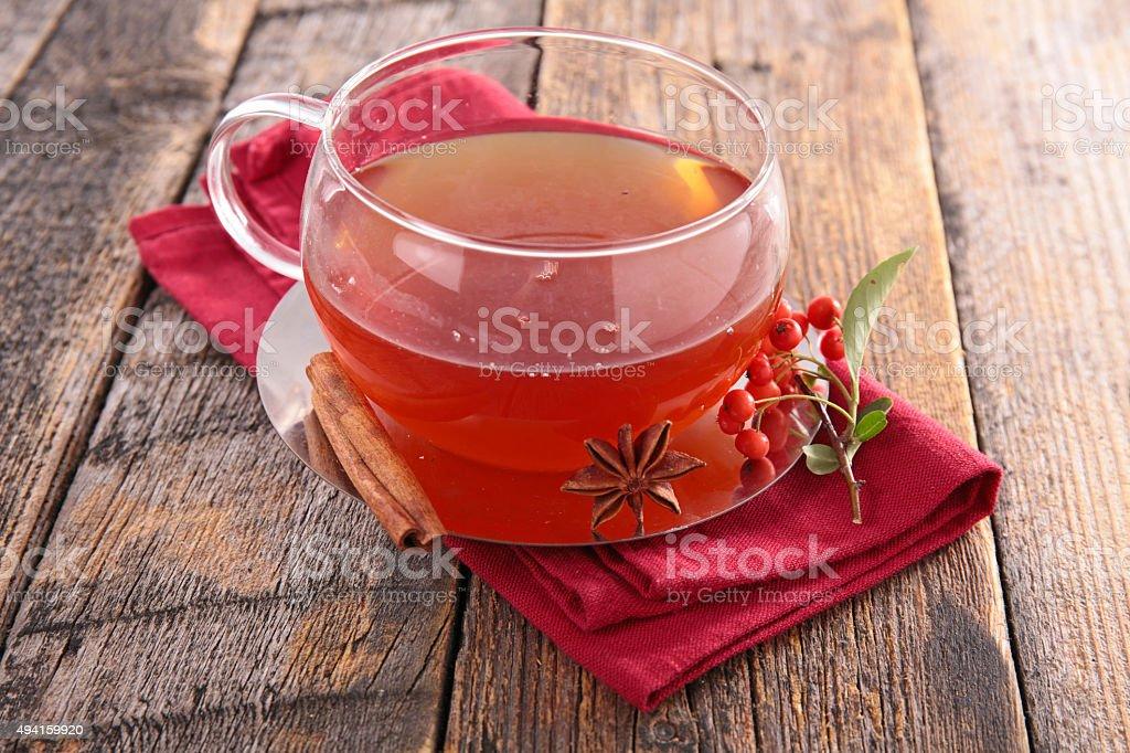 red tea stock photo