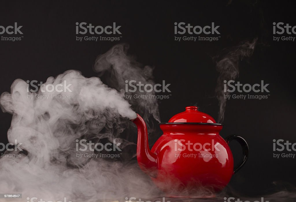 red tea stock photo