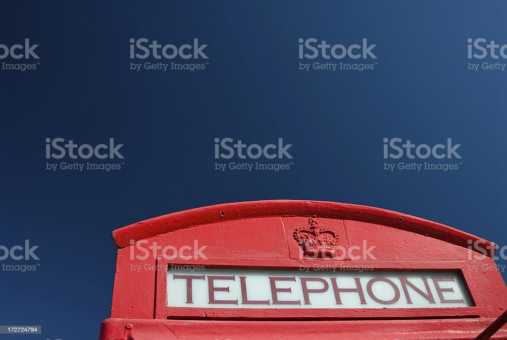 Red Telephone Booth 3 royalty-free stock photo