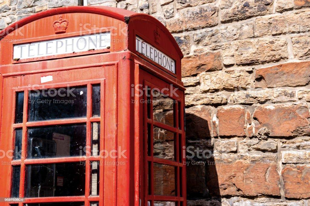 Rode telefooncel, Edinburgh, VK. - Royalty-free Architectuur Stockfoto