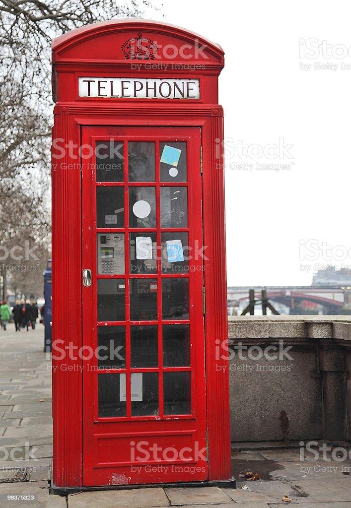 Red Telephone Box London royalty-free stock photo