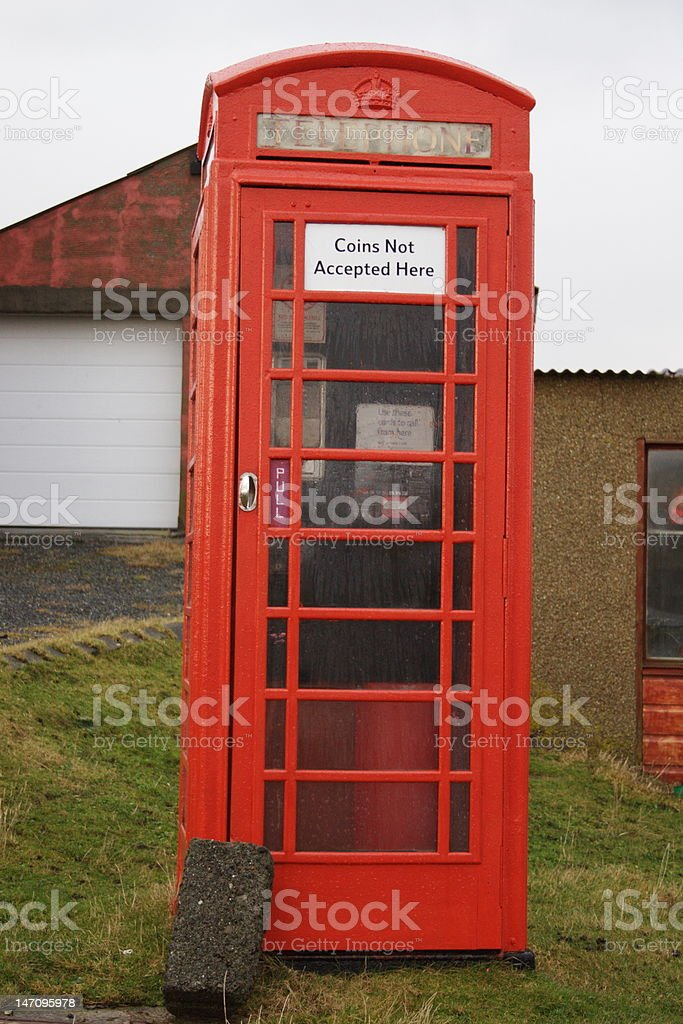Red Telephone Box royalty-free stock photo
