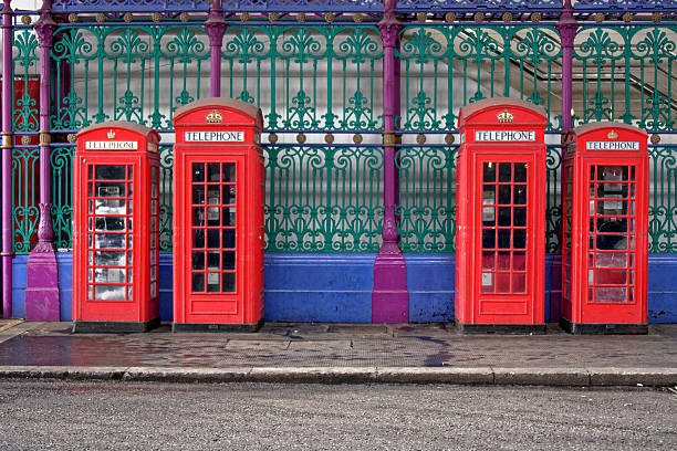 Red Telephone Boxes stock photo
