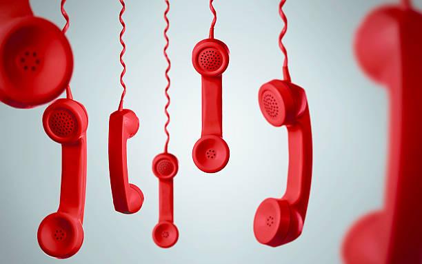red telephone concepts - cornetta telefono foto e immagini stock