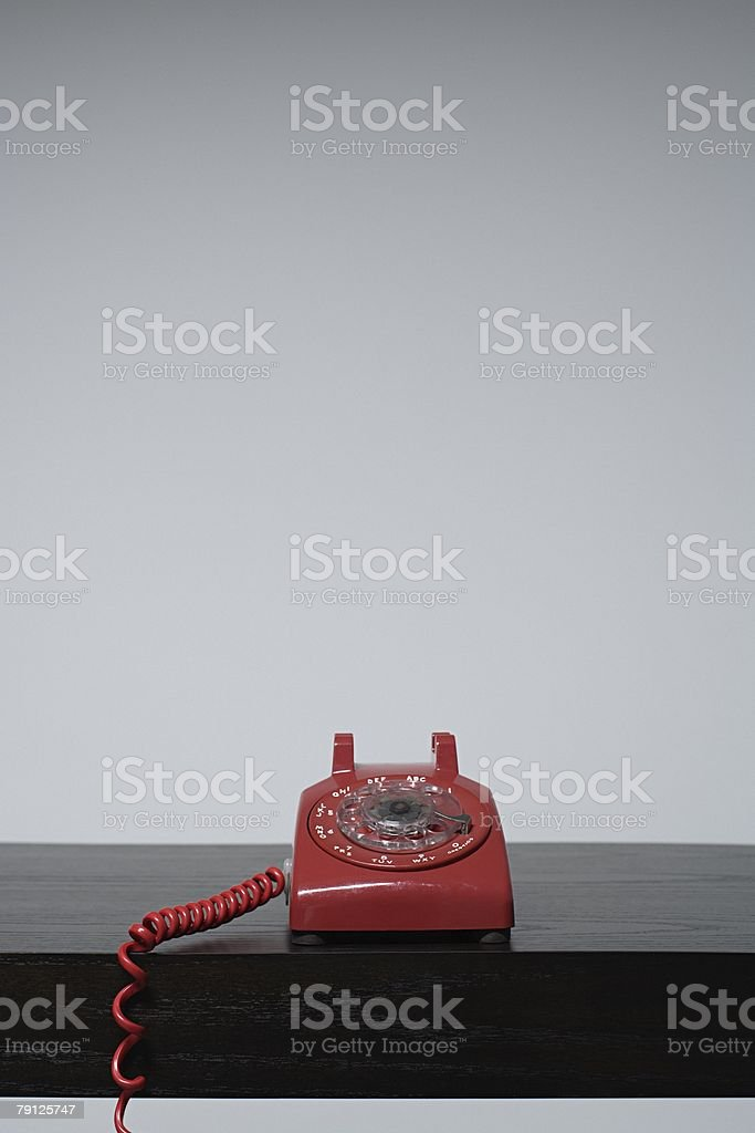 A red telephone 免版稅 stock photo