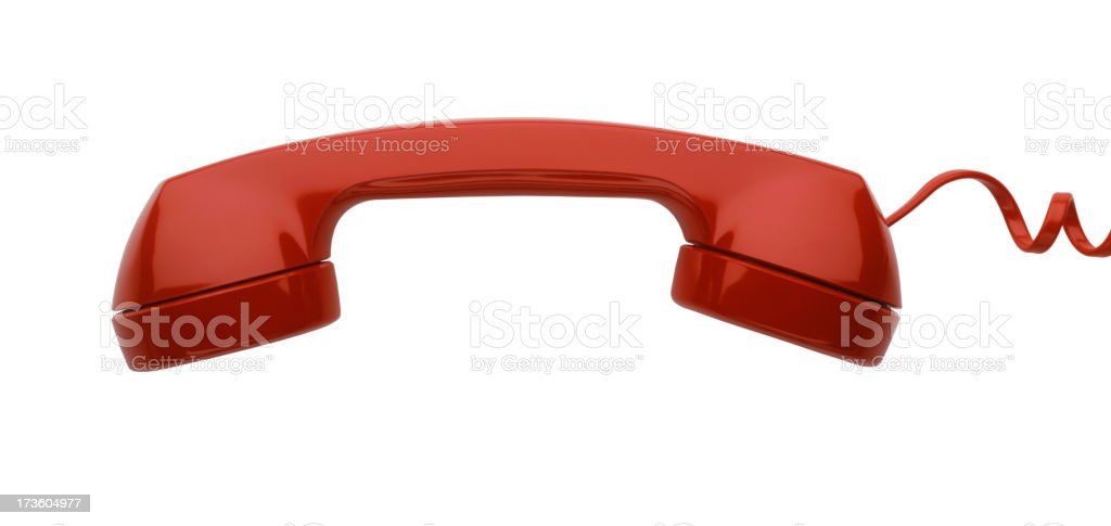 Red Telephone Receiver royalty-free stock photo