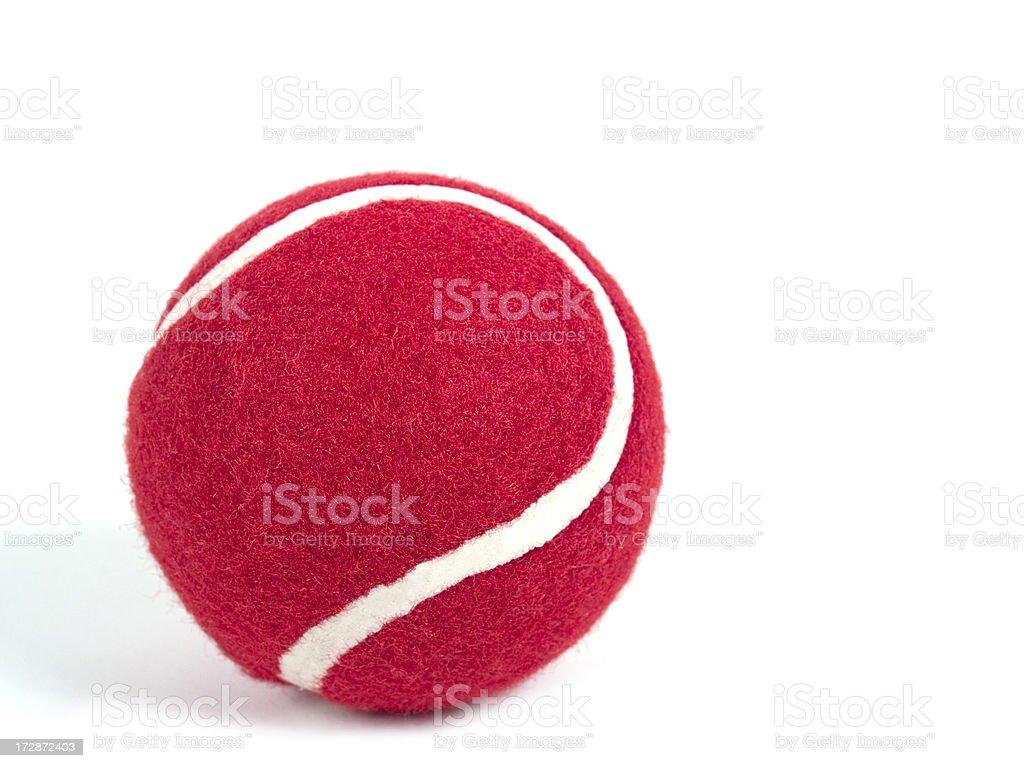 Red Tennis Ball stock photo