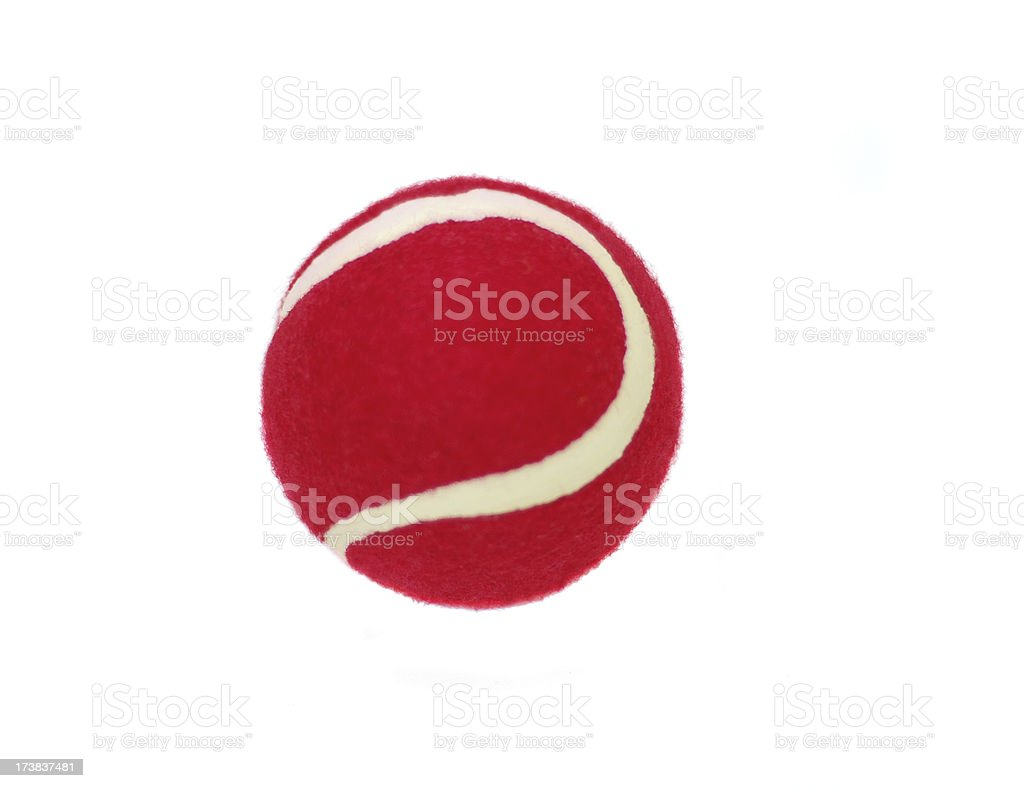 Red Tennis Ball royalty-free stock photo