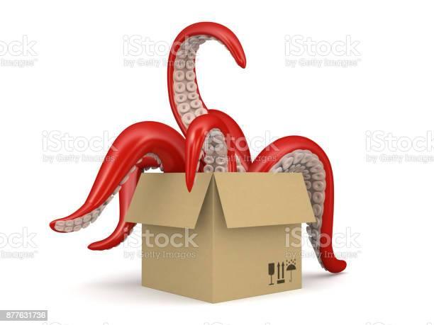 Red tentacles in a cardboard box isolated on white background 2 picture id877631736?b=1&k=6&m=877631736&s=612x612&h=pw85 hbubqlbzhyyvwdpn iteftkotzkt9uz1uqolju=