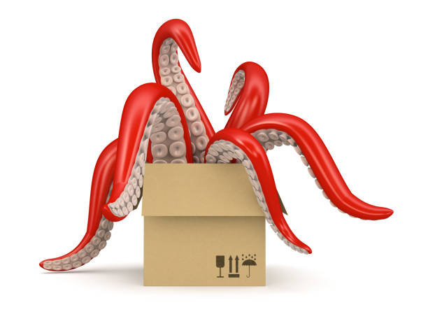 Red tentacles in a cardboard box isolated on white background picture id877631722?b=1&k=6&m=877631722&s=612x612&w=0&h=kkiib5uvfcteiqvfxpvajxg59qme awlqh2mga9dmze=
