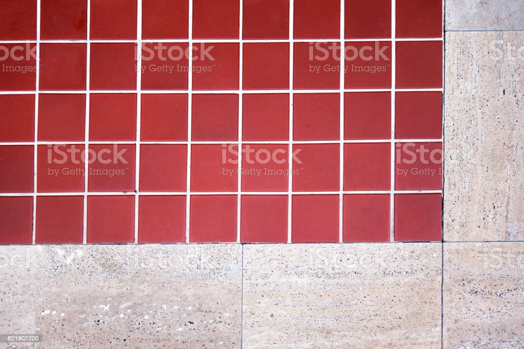 Red Terracotta Floor Tiles Stock Photo & More Pictures of Backgrounds