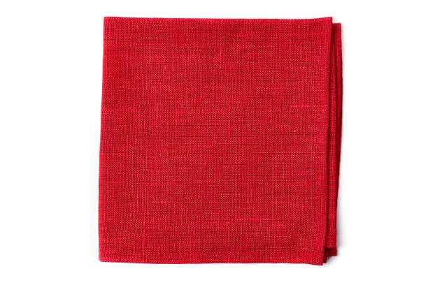 röd textil servett vit - servett bildbanksfoton och bilder