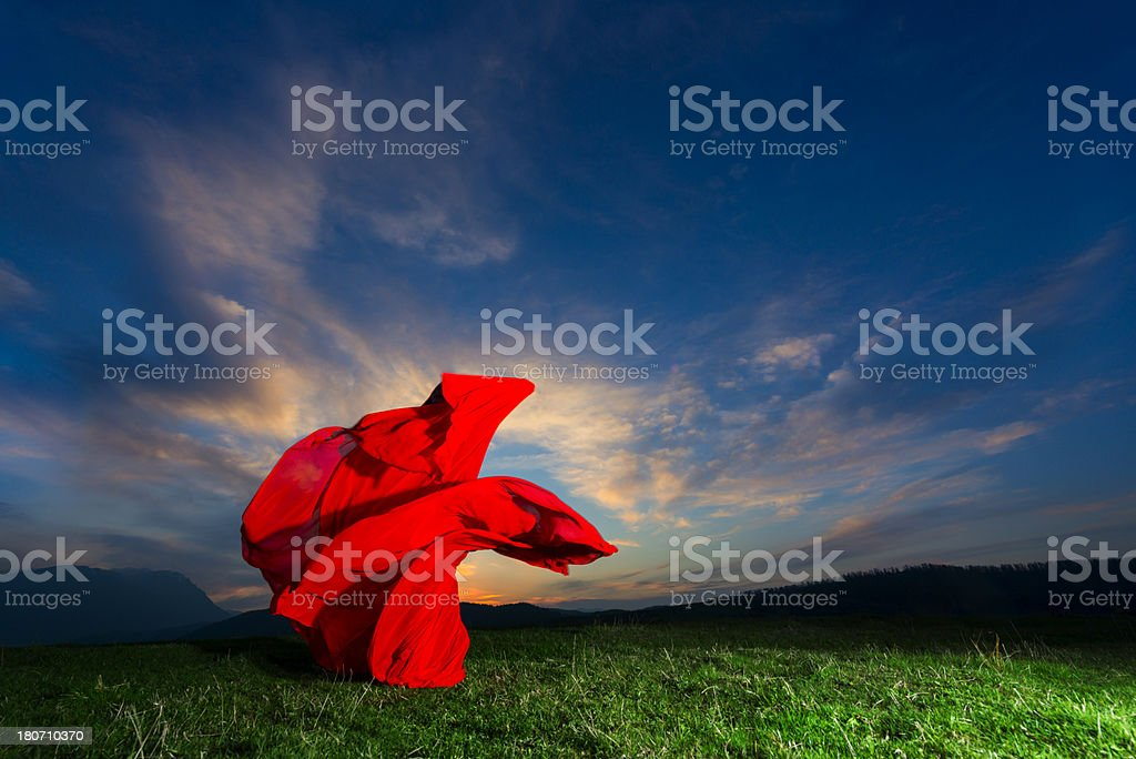 red textile royalty-free stock photo
