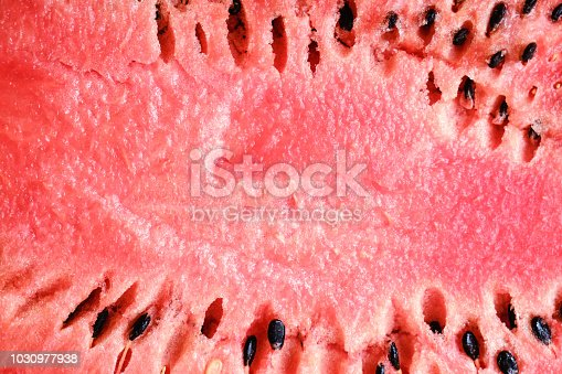 Red texture of sweet ripe watermelon background tropical dessert