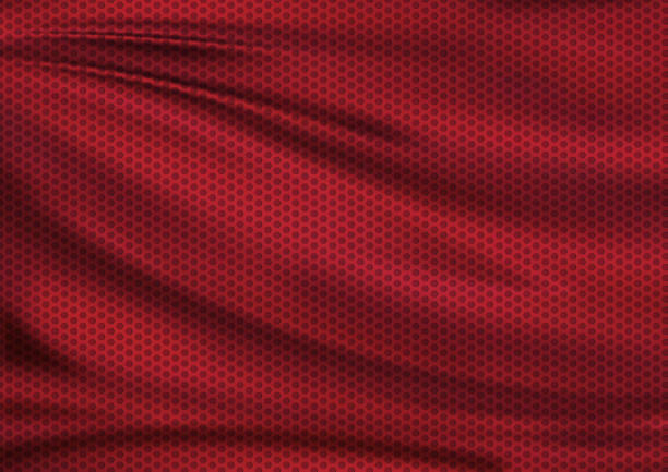 Red texture textile sport background Red texture textile fabric background, football illustration red cloth stock pictures, royalty-free photos & images