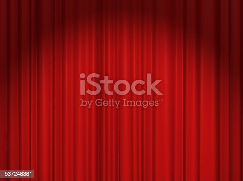 istock Red Theater Curtain 537248381