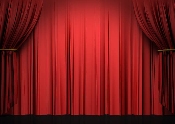 red theater curtains stock photo more pictures of arts culture and