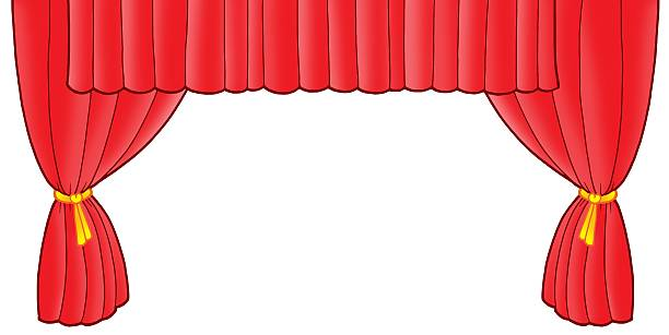 Red Stage Curtains Cartoon Pictures Images And Stock Photos