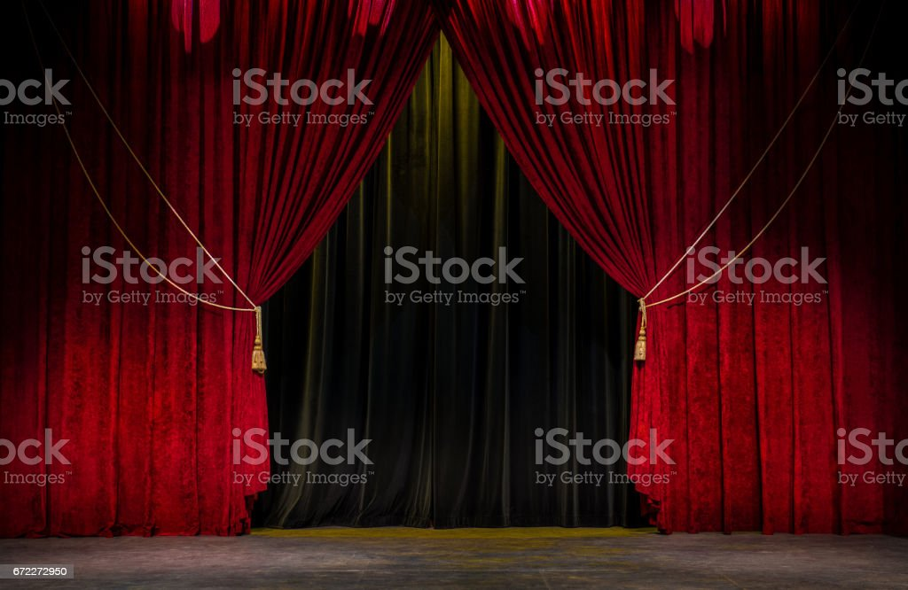Red Theatre のカーテン - アメリカ合衆国のロイヤリティフリーストックフォト