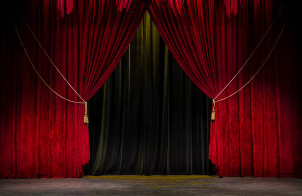 Red Theatre Curtain - foto stock