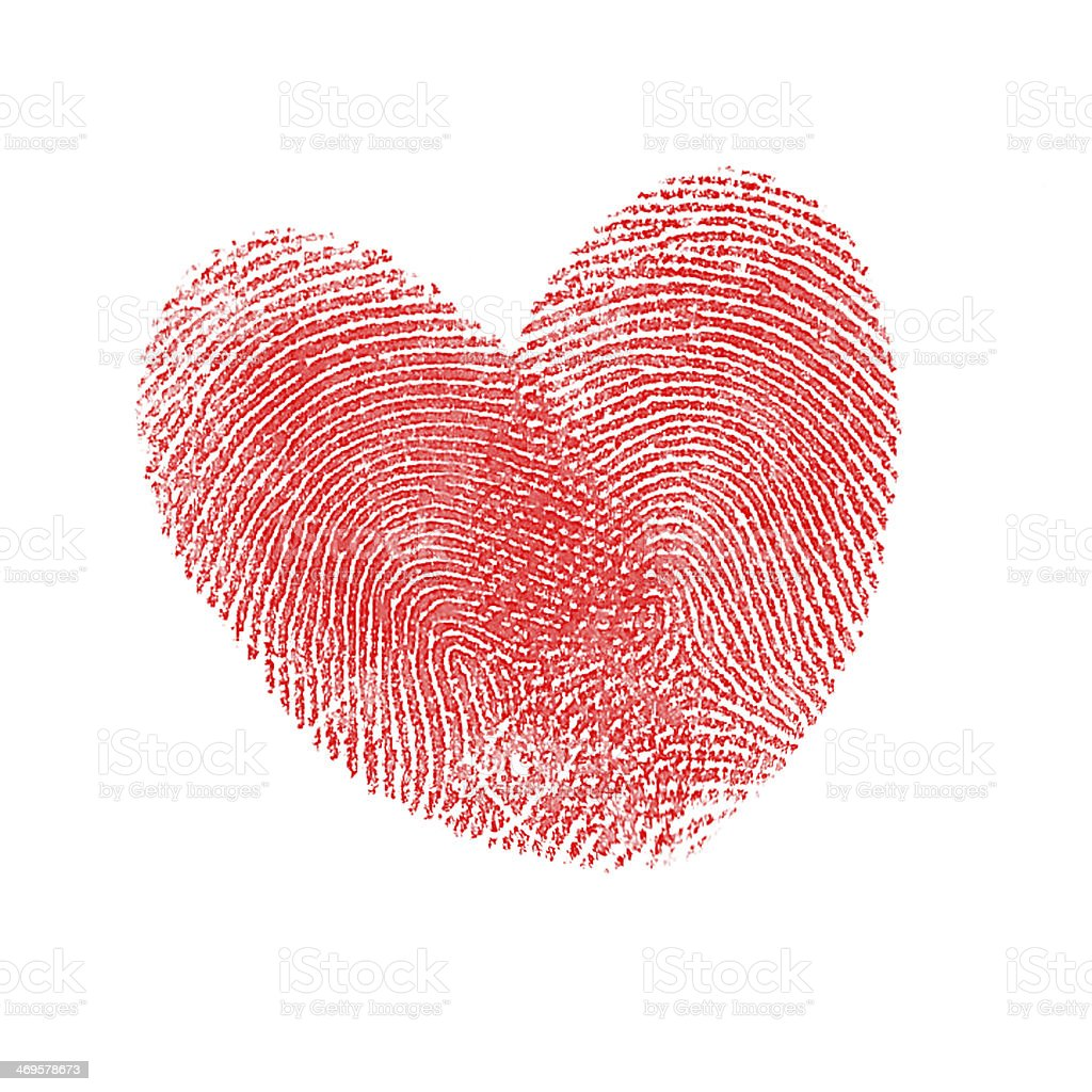 Red Thumbprint heart stock photo