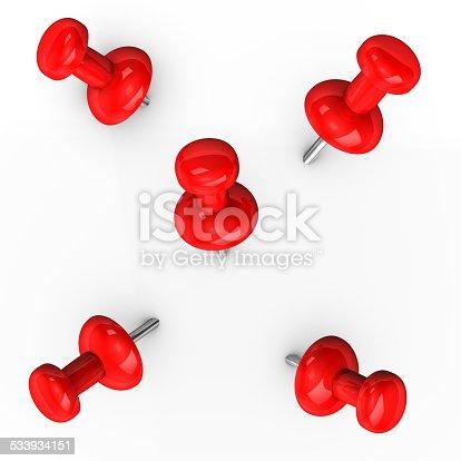 istock Red Thumbtacks 533934151