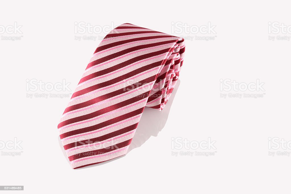 red tie close up stock photo