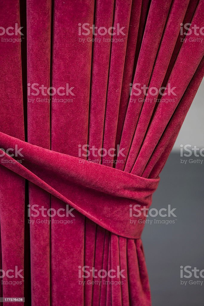red tied curtain royalty-free stock photo