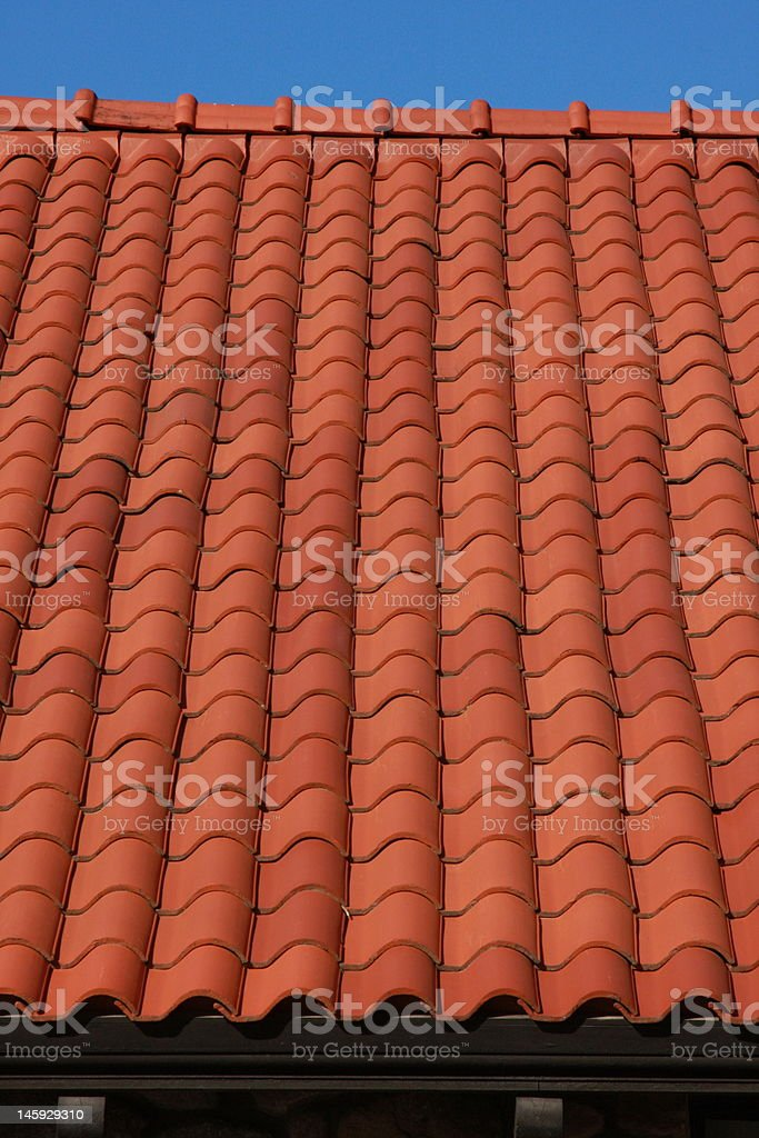 Red Tile Roof (very original!) stock photo